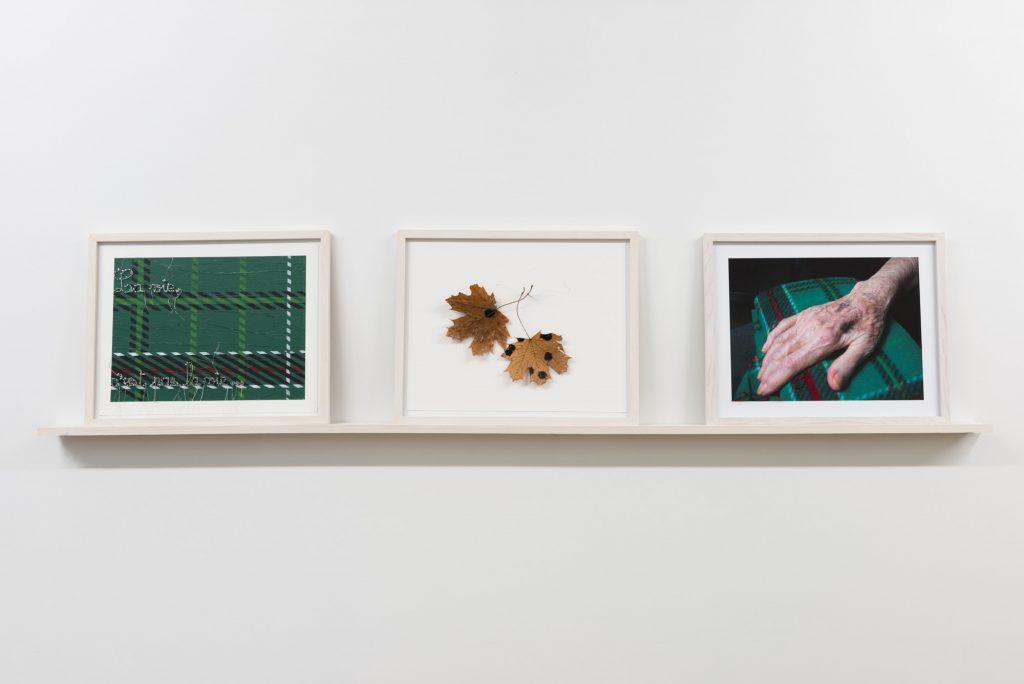 Triptyque, Main posée, tachetée, la vie c'est pas la vie, projet sur la démence Diane Dubeau