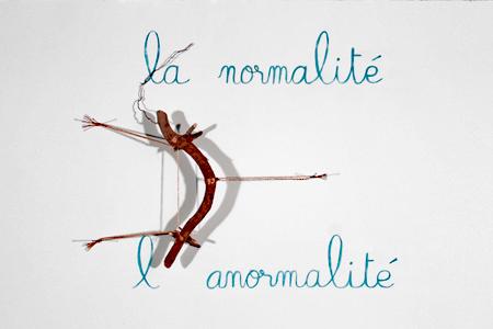Triptyque, L'apostrophe, il manque une apostrophe entre la normalité et l'anormalité, Diane Dubeau, projet sur la démence