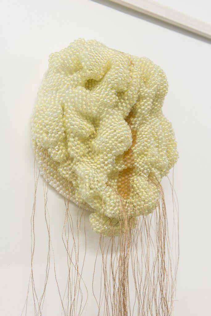 Cerveau perlé, cerveau de bois, techniques mixtes Diane Dubeau Projet : La tête pleine de trous
